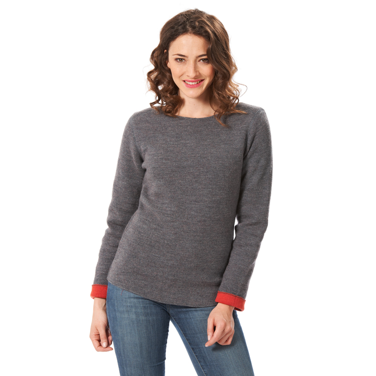 Pullover 'Outdoor' grau/orange | S | Artikelnummer: 2646533