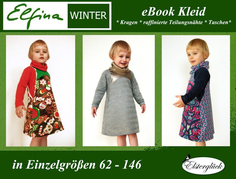 eBook ELFINA WINTER Schnittmuster Mädchen Kleid — Opolo