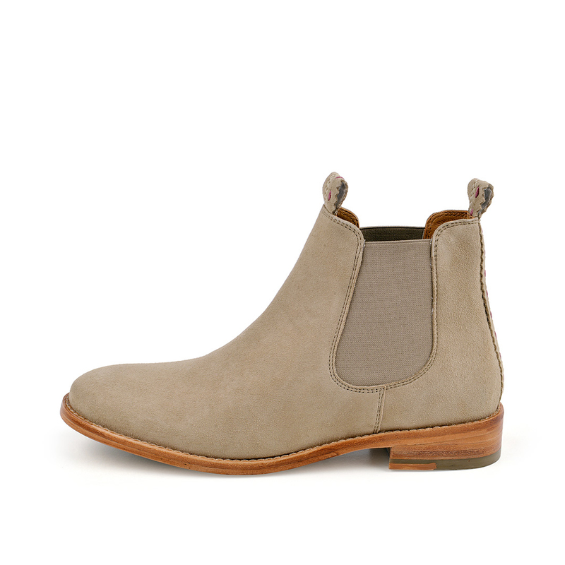 CRICKIT-Chelsea Boot Stiefelette-JULIA Suede Taupe