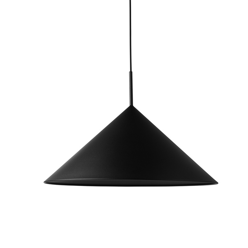 HK LIVING Pendelleuchte - metal triangle L matt black