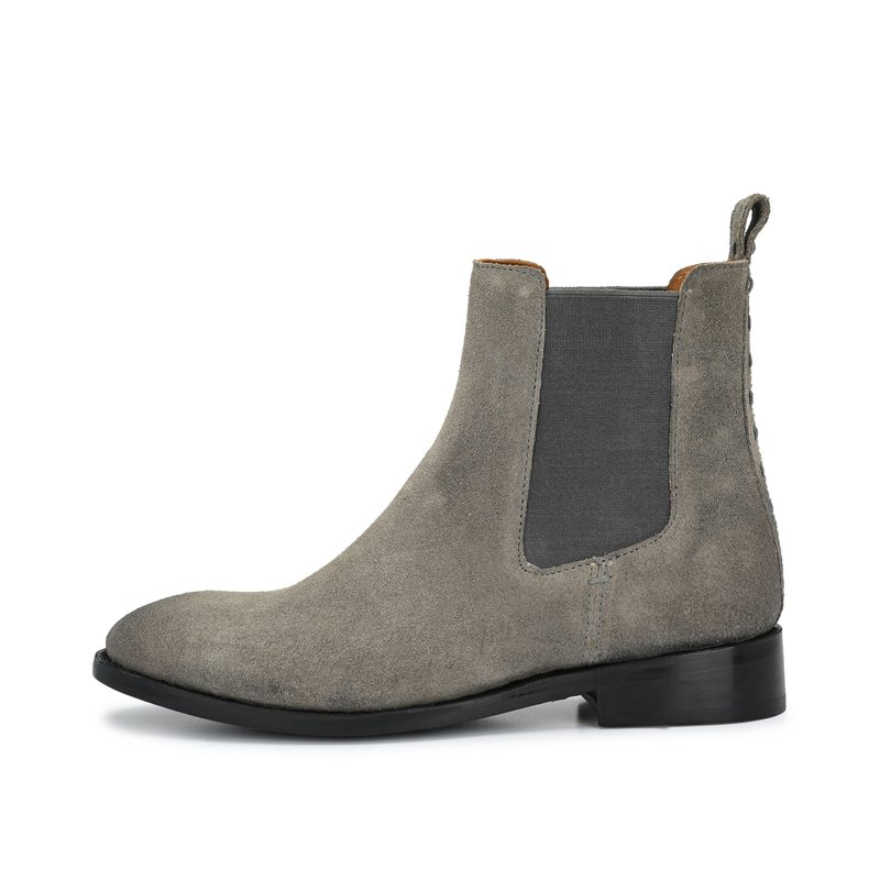 CRICKIT-Chelsea Boot Stiefelette-INES Suede Grau