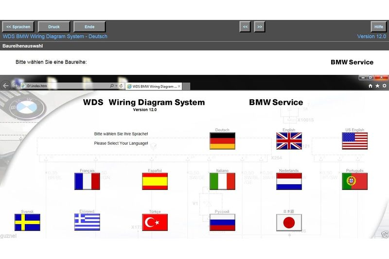 BMW WDS 12.00 Letzte Erschienene Version Wds Bmw Wiring Diagram System Model E From on