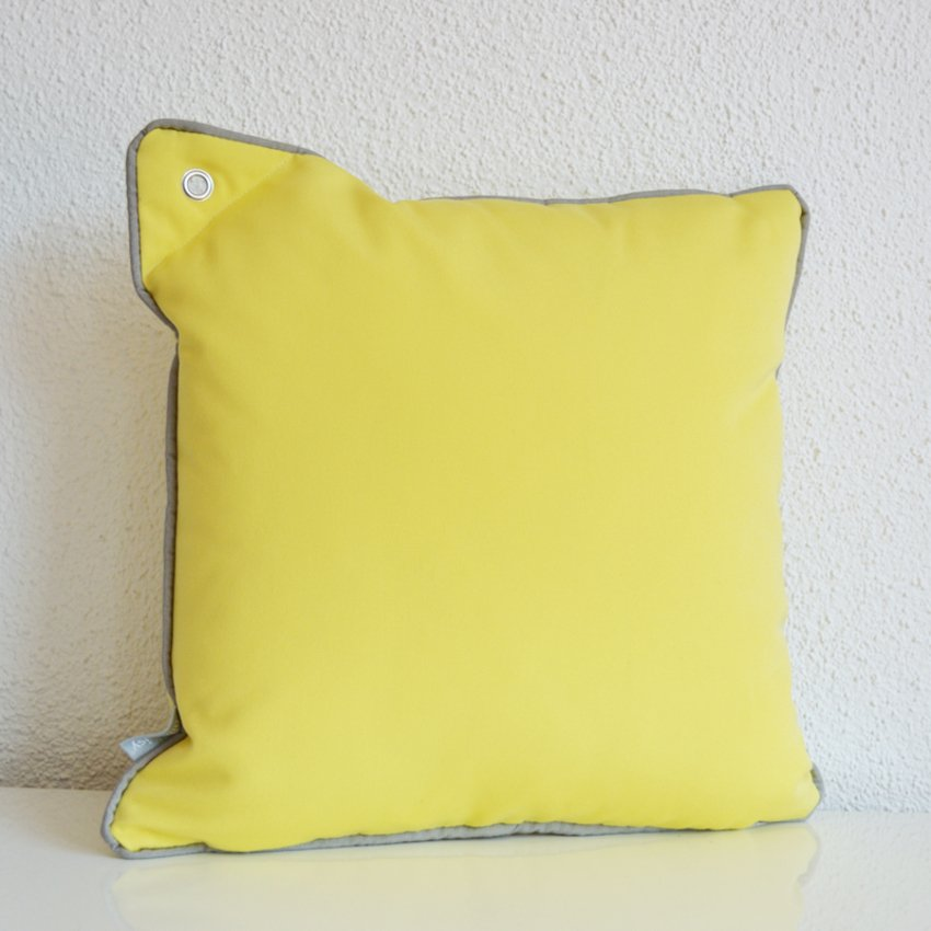 Yacht Collection Princess Classic Lemon yellow colored cushions with eyelet