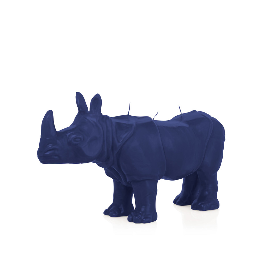 Wiedemann Black Edition Nashorn blau Figur dekoration