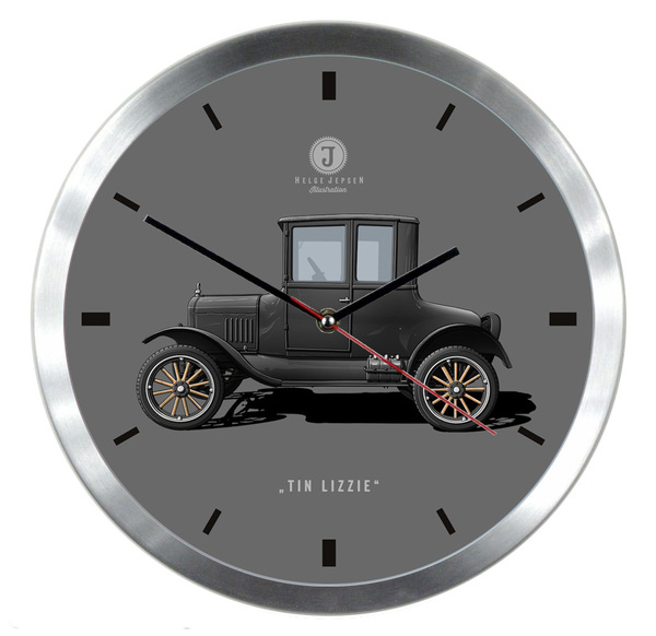 "Wanduhr mit Illustration eines FORD Model T - Spitzname ""Tin Lizzie"""