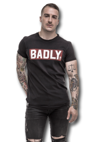 Badly T-Shirt Oldschool Red front