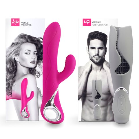 Venus & Vulcan Couples Set Pink & Grey