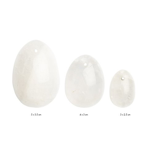 YONI EGG CLEAR QUARTZ