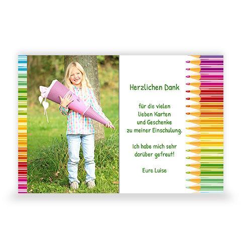 Spruche Fur Schulanfang Karte.S 09 Bunte Stifte