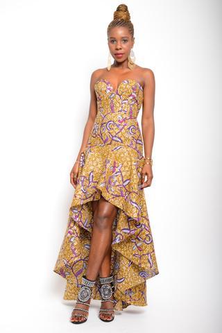 Typisch Afrikanisch Bunt Super Qualität Des Stoffes Afrikanisches Kleid