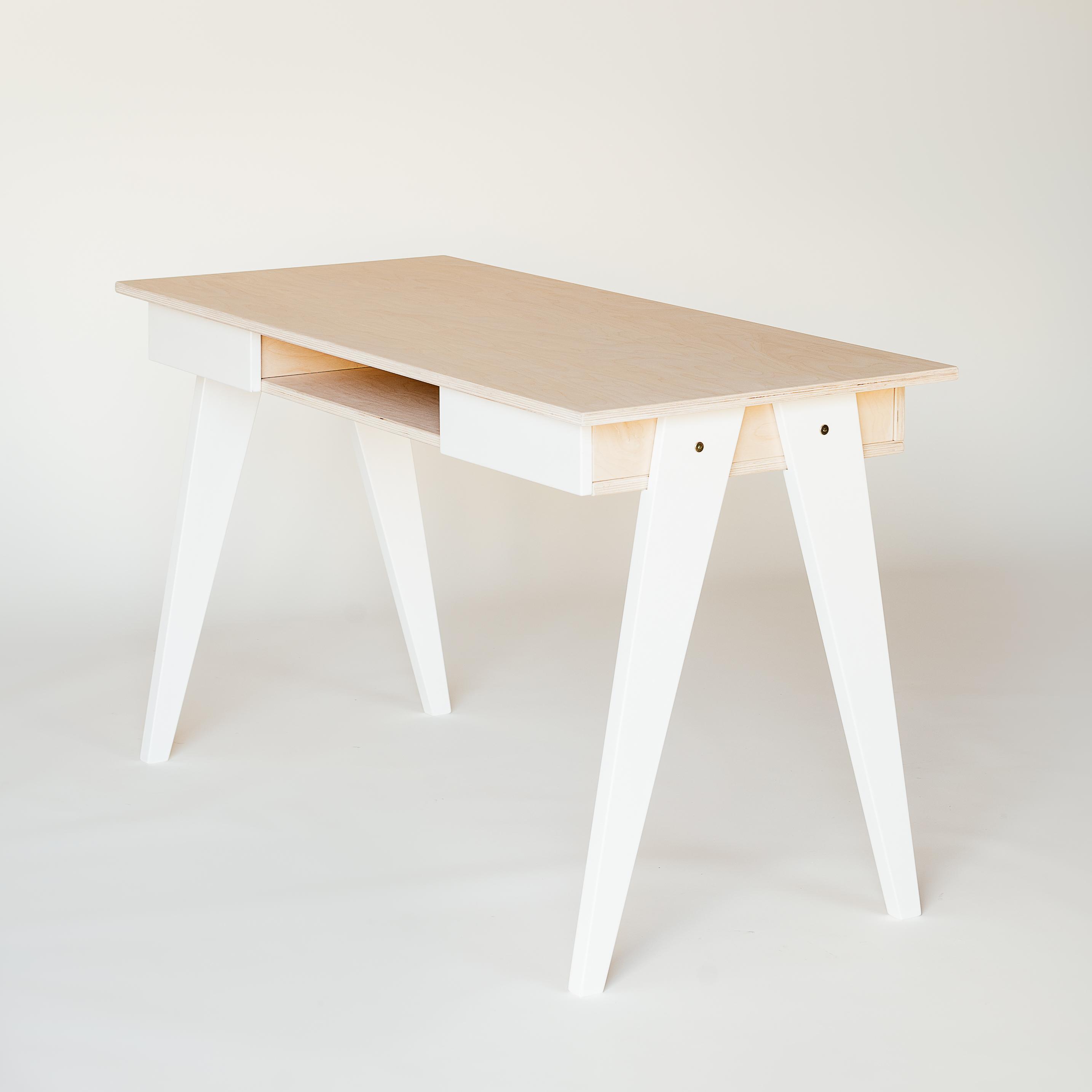 Schreibtisch holz weiß  Schreibtisch-Bürotisch aus Holz