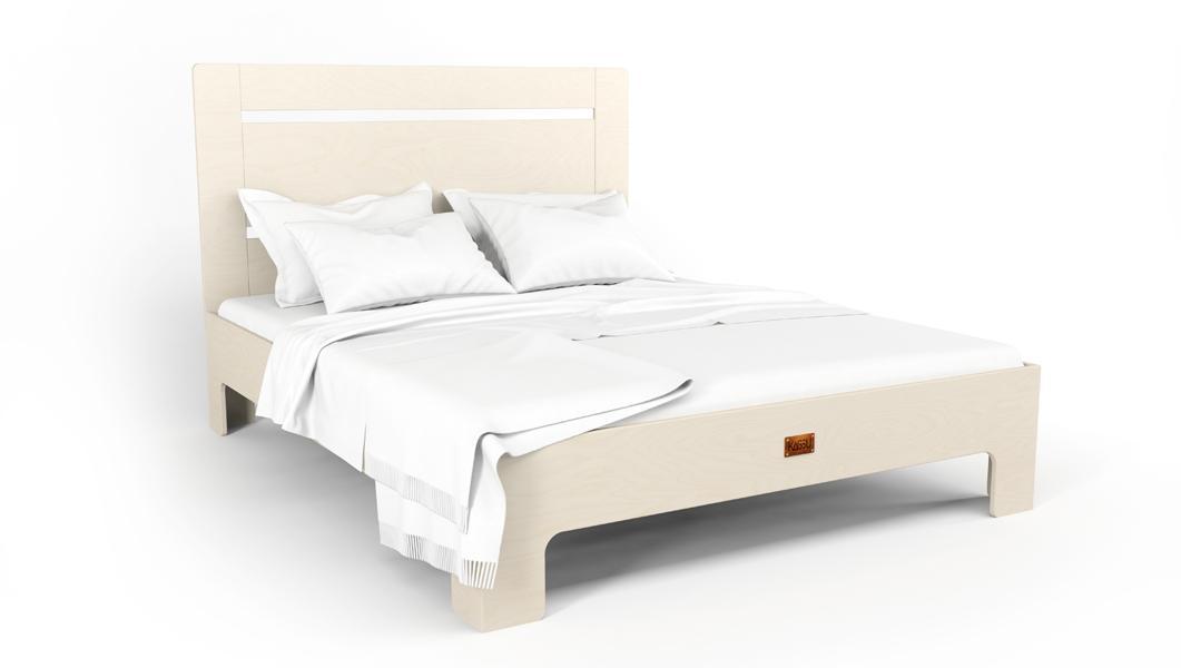 Bett TU:L aus Massivholz in weiß - 180x200 cm