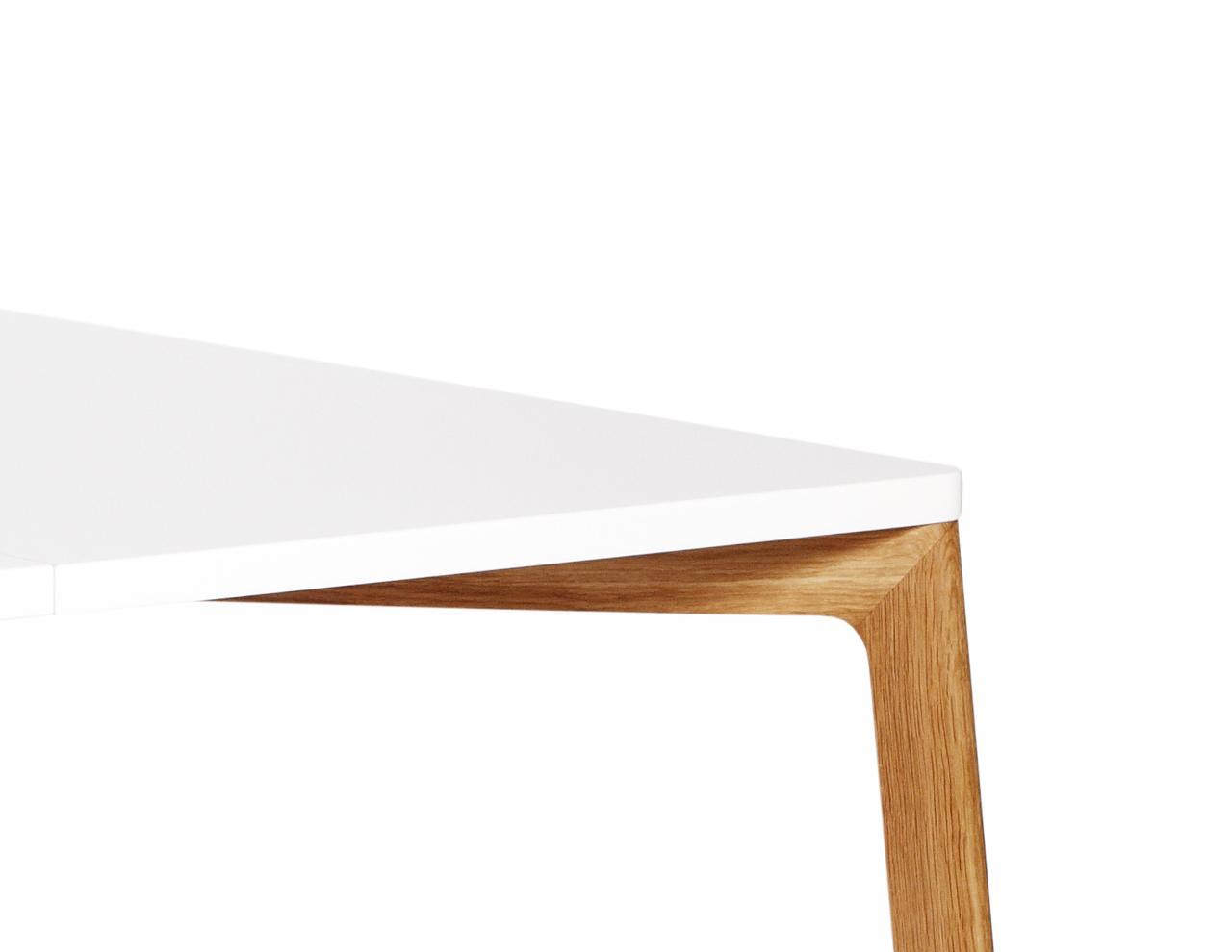 Gro er esstisch in eiche wei for Esstisch nordisches design