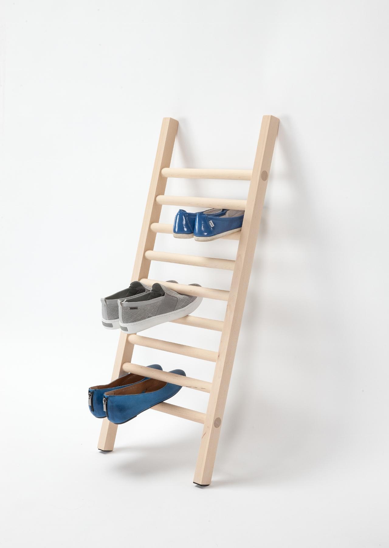 designer schuhleiter step up aus holz emko. Black Bedroom Furniture Sets. Home Design Ideas