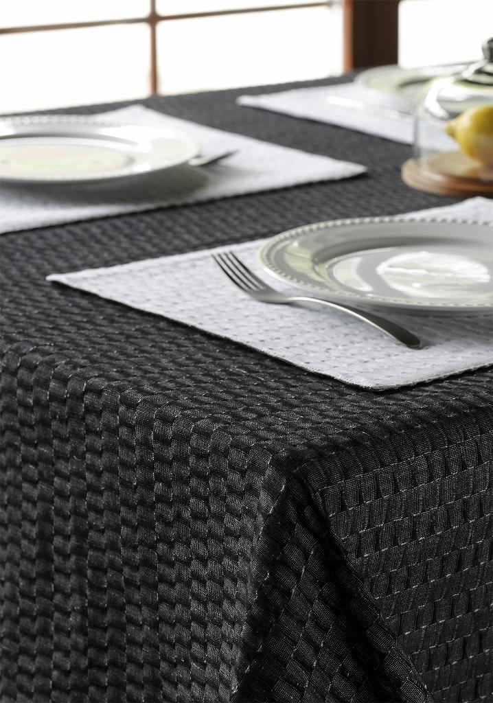 tischdecke aus leinen baumwolle in grau 140x140. Black Bedroom Furniture Sets. Home Design Ideas