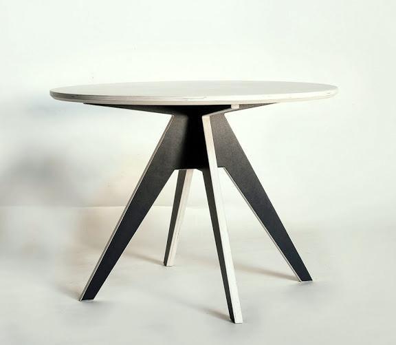runder tisch 105 cm aus birkenholz nordisches design. Black Bedroom Furniture Sets. Home Design Ideas
