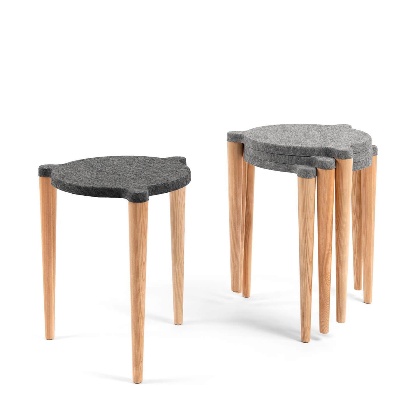 Holzhocker skandinavisches design jetzt online kaufen for Hocker stapelbar
