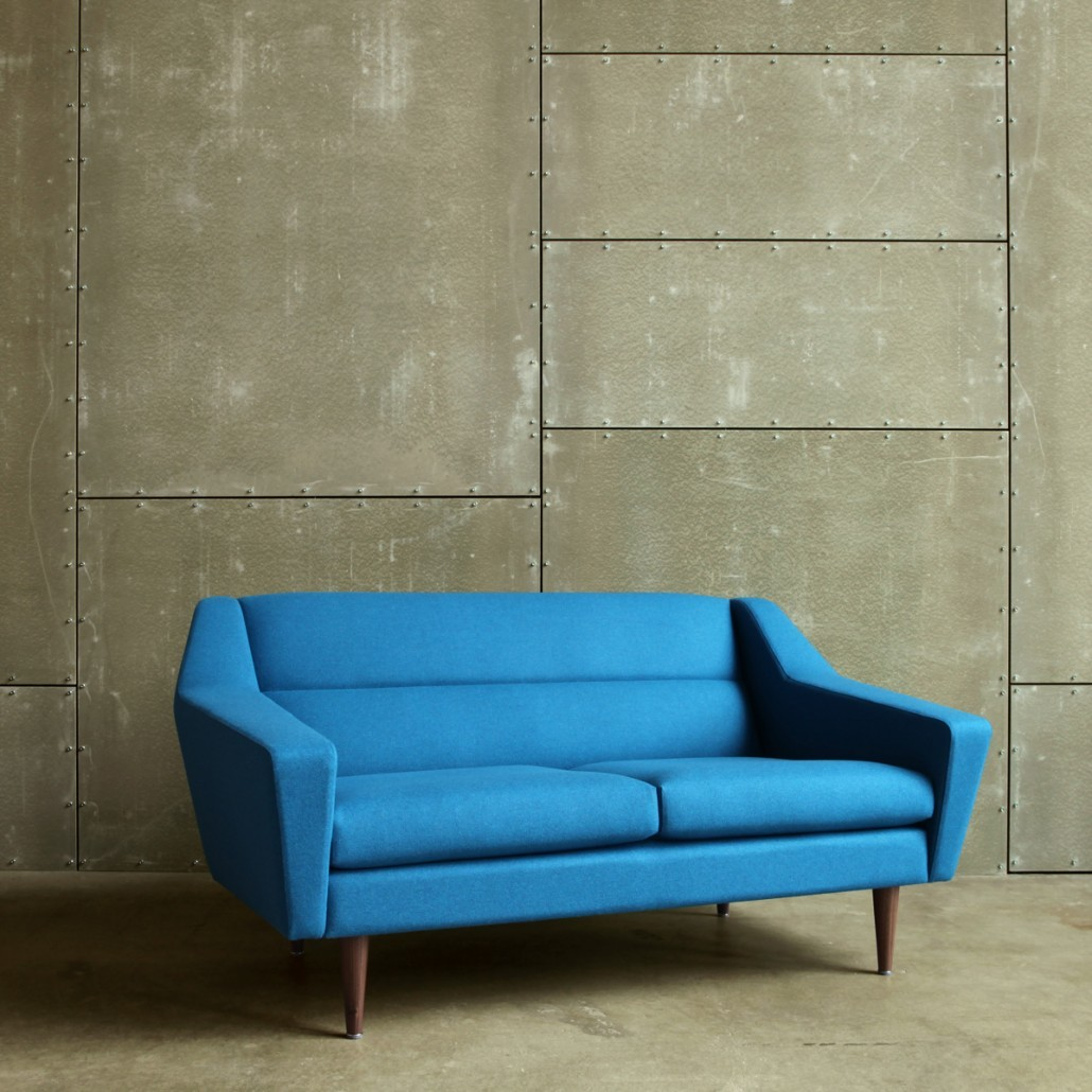 2-Sitzer Sofa im Retro-Look für moderne Wohnräume