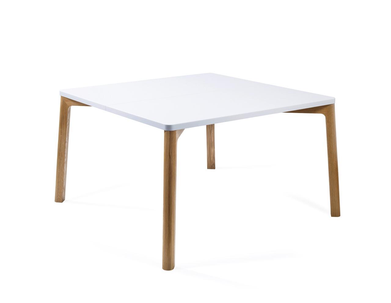 Esstisch in eiche wei 140 cm for Design esstisch 140