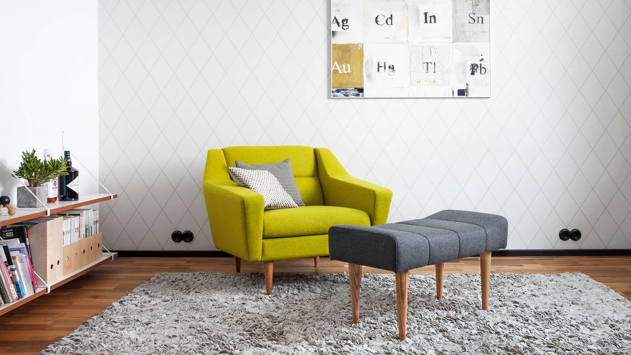 Sessel cosmo im retro look nordisches design for Design lesesessel