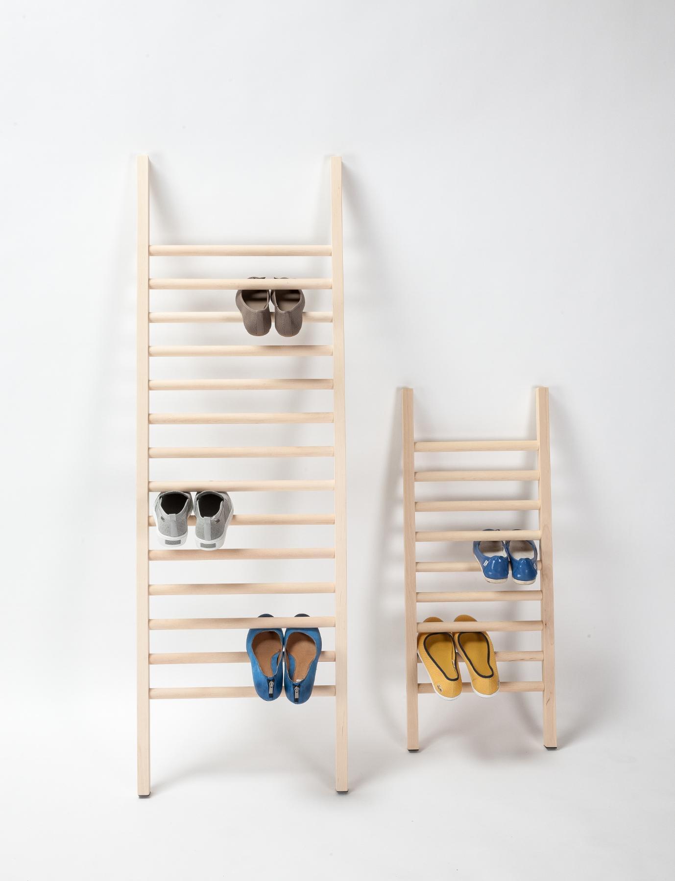 designer schuhregal step up aus holz emko. Black Bedroom Furniture Sets. Home Design Ideas