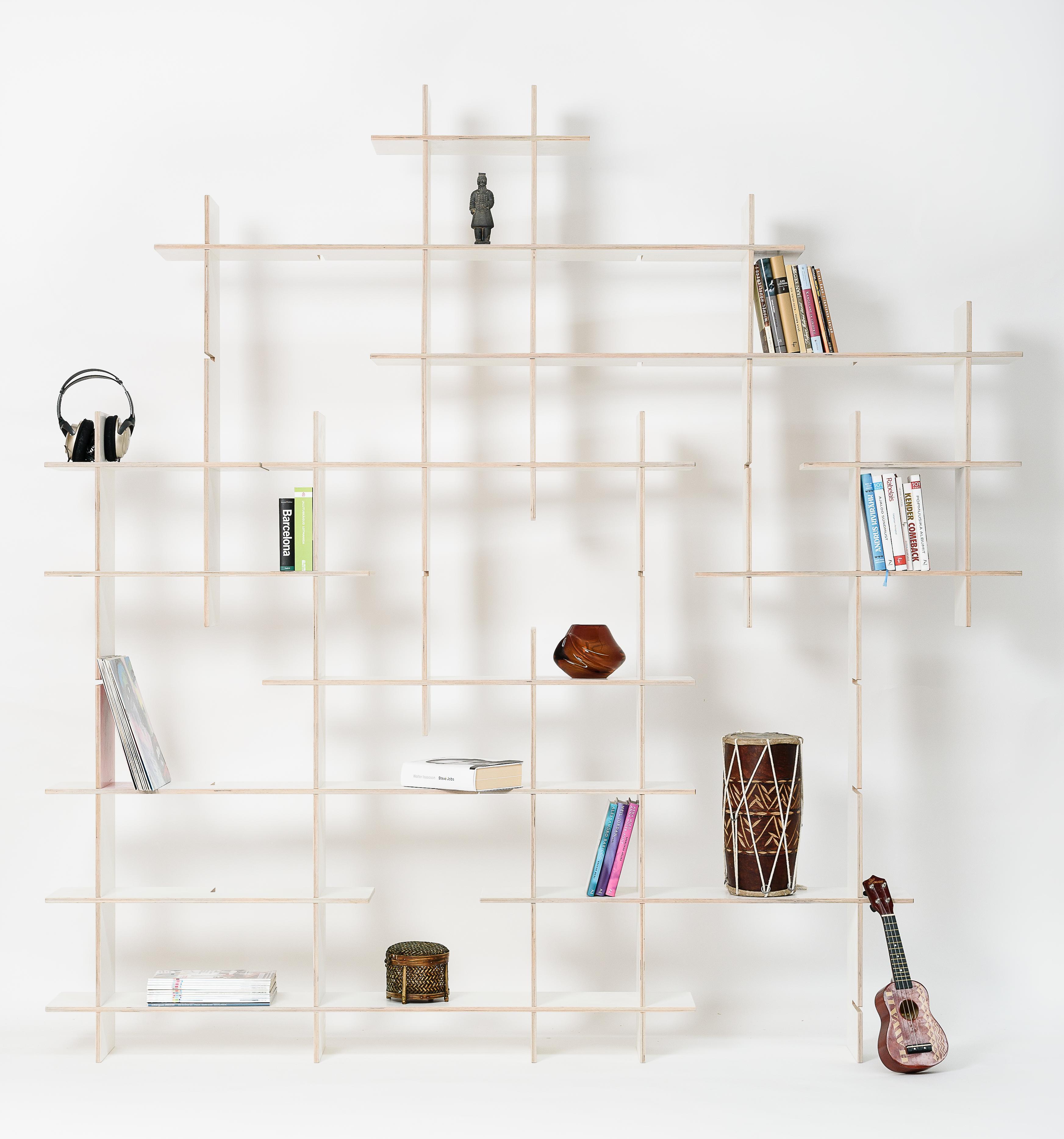 Bücherregal Design regal criss cross minimalistisches design
