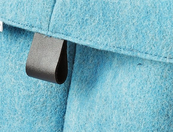 aufbewahrungskorb aus filz schwarze ledergriffe 12 cm. Black Bedroom Furniture Sets. Home Design Ideas
