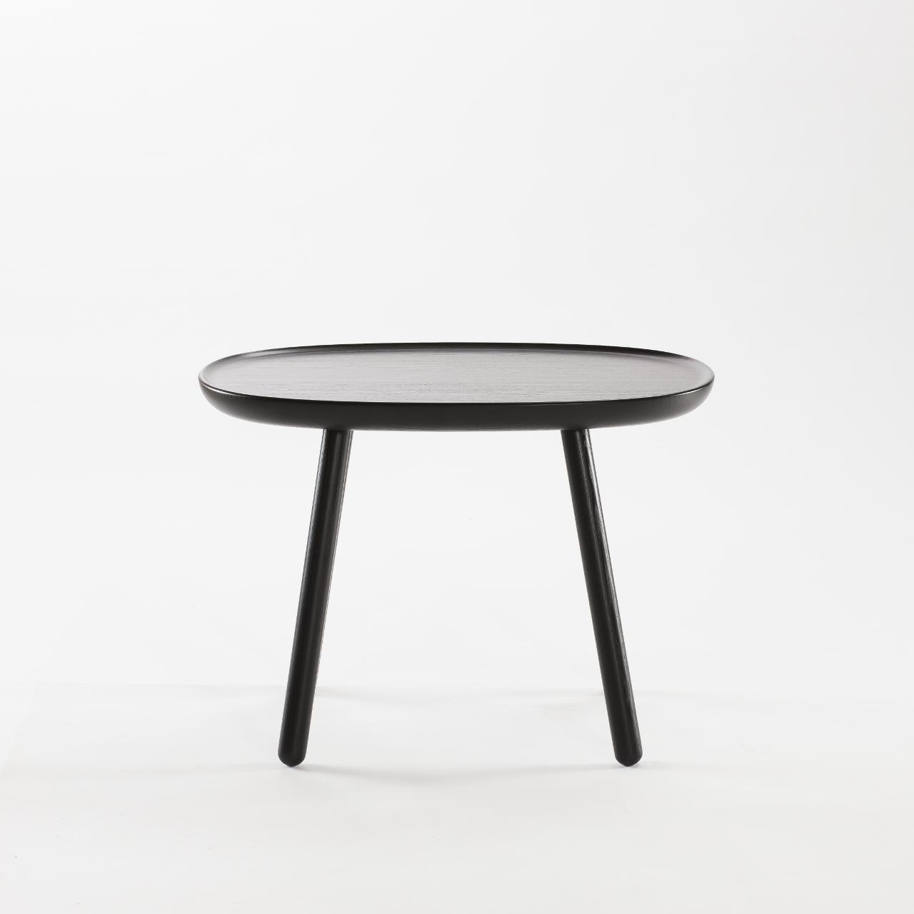 runder beistelltisch aus holz schwarz emko. Black Bedroom Furniture Sets. Home Design Ideas