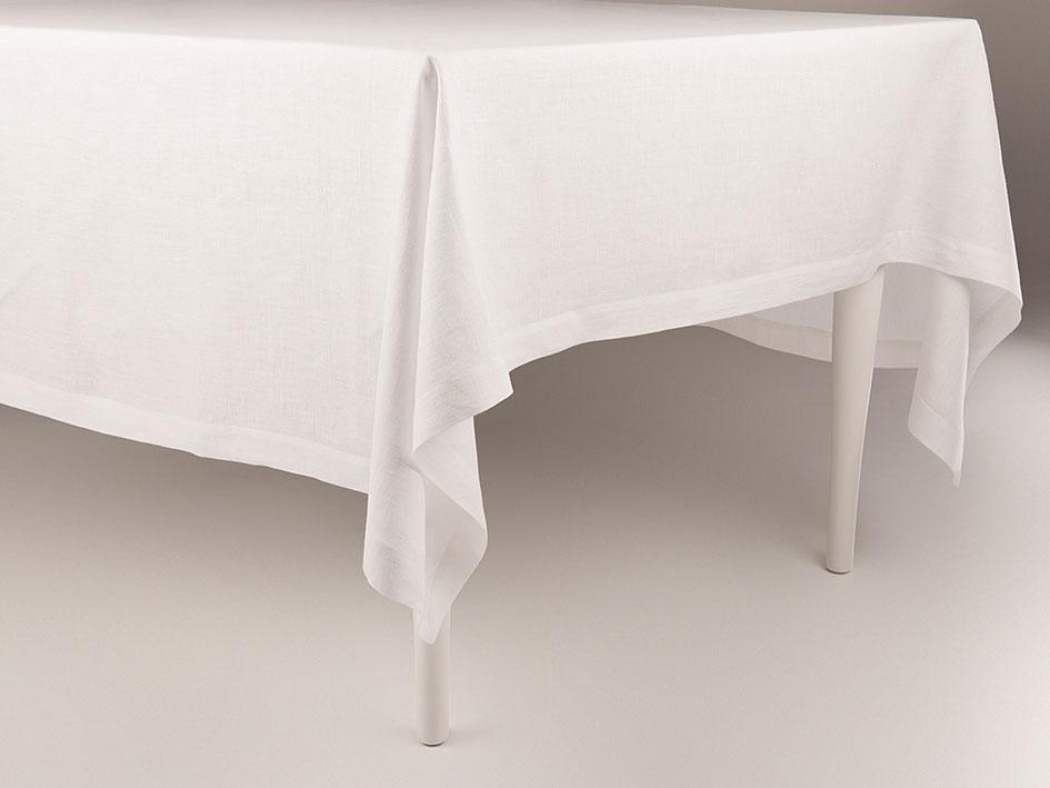 leinen tischdecke in wei 120x220 cm. Black Bedroom Furniture Sets. Home Design Ideas